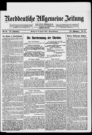 Norddeutsche allgemeine Zeitung vom 14.01.1918