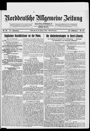 Norddeutsche allgemeine Zeitung vom 16.01.1918