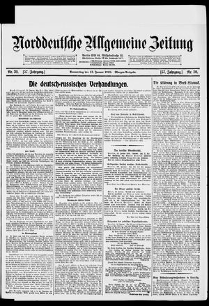 Norddeutsche allgemeine Zeitung vom 17.01.1918