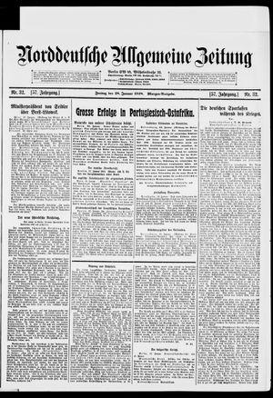 Norddeutsche allgemeine Zeitung vom 18.01.1918