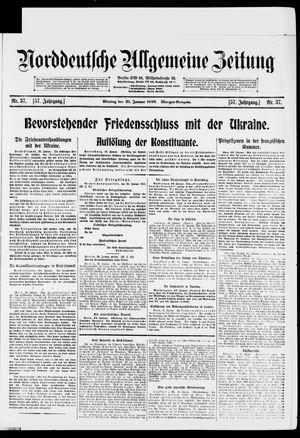 Norddeutsche allgemeine Zeitung vom 21.01.1918