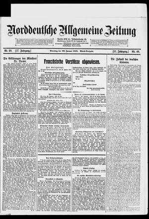 Norddeutsche allgemeine Zeitung vom 22.01.1918
