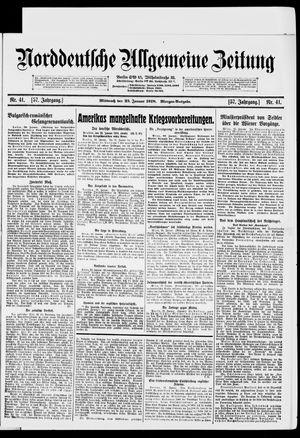 Norddeutsche allgemeine Zeitung vom 23.01.1918