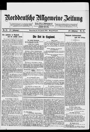 Norddeutsche allgemeine Zeitung vom 24.01.1918