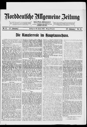 Norddeutsche allgemeine Zeitung vom 25.01.1918