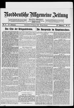 Norddeutsche allgemeine Zeitung vom 26.01.1918