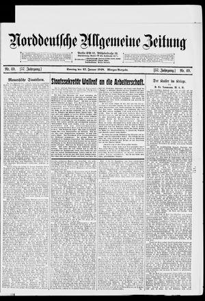 Norddeutsche allgemeine Zeitung vom 27.01.1918