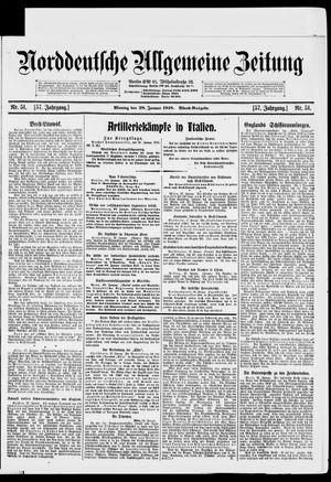 Norddeutsche allgemeine Zeitung on Jan 28, 1918