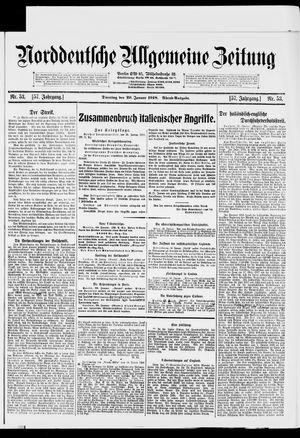 Norddeutsche allgemeine Zeitung vom 29.01.1918