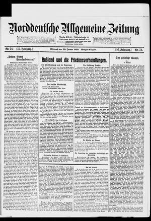 Norddeutsche allgemeine Zeitung vom 30.01.1918