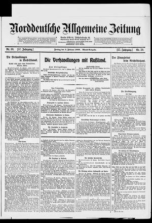 Norddeutsche allgemeine Zeitung vom 01.02.1918