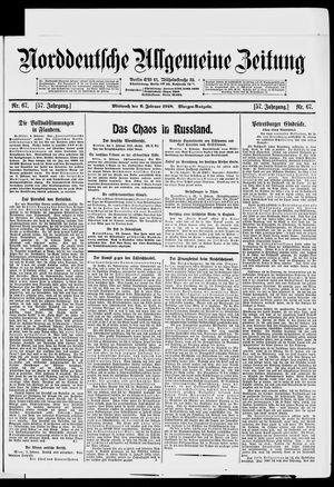 Norddeutsche allgemeine Zeitung vom 06.02.1918