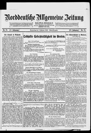 Norddeutsche allgemeine Zeitung vom 07.02.1918