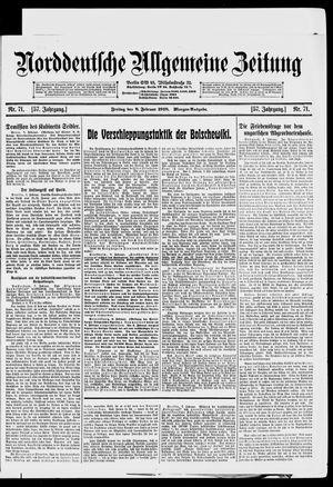 Norddeutsche allgemeine Zeitung vom 08.02.1918