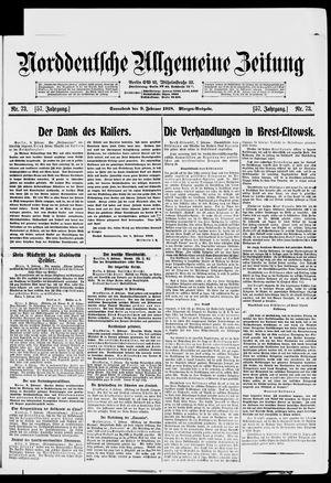Norddeutsche allgemeine Zeitung vom 09.02.1918