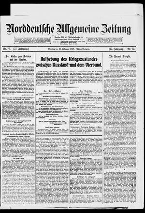 Norddeutsche allgemeine Zeitung vom 11.02.1918