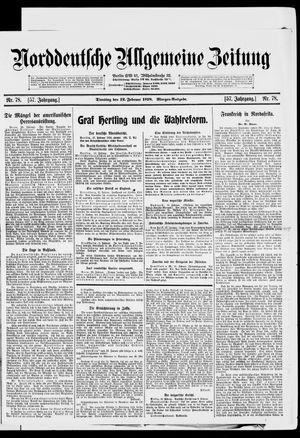Norddeutsche allgemeine Zeitung vom 12.02.1918