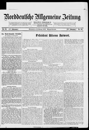 Norddeutsche allgemeine Zeitung vom 13.02.1918