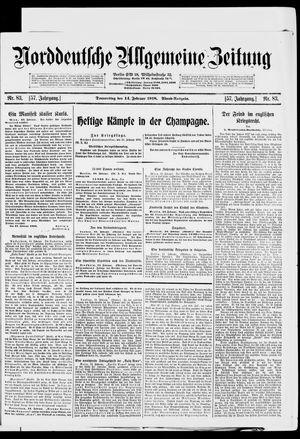 Norddeutsche allgemeine Zeitung on Feb 14, 1918