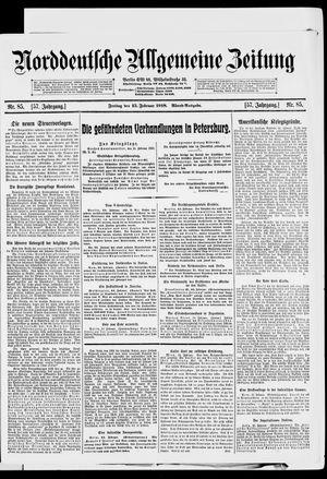 Norddeutsche allgemeine Zeitung vom 15.02.1918