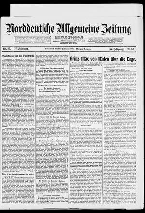 Norddeutsche allgemeine Zeitung vom 16.02.1918