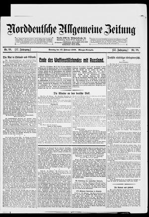 Norddeutsche allgemeine Zeitung vom 17.02.1918