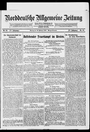 Norddeutsche allgemeine Zeitung vom 18.02.1918