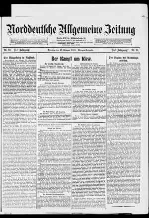 Norddeutsche allgemeine Zeitung vom 19.02.1918