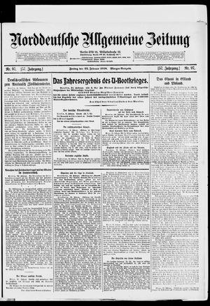 Norddeutsche allgemeine Zeitung vom 22.02.1918