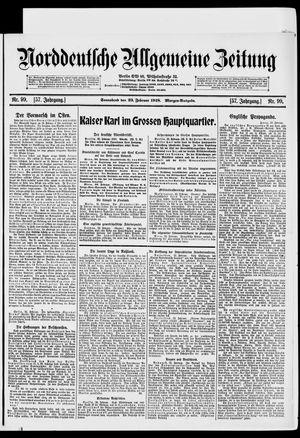 Norddeutsche allgemeine Zeitung vom 23.02.1918