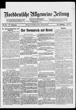 Norddeutsche allgemeine Zeitung vom 25.02.1918