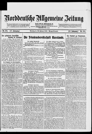 Norddeutsche allgemeine Zeitung vom 26.02.1918
