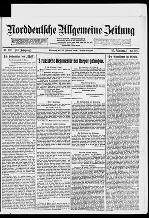 Norddeutsche allgemeine Zeitung vom 27.02.1918