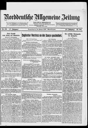 Norddeutsche allgemeine Zeitung vom 28.02.1918
