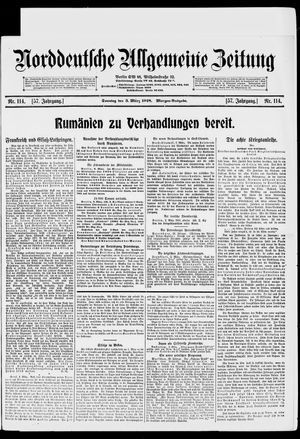 Norddeutsche allgemeine Zeitung vom 03.03.1918