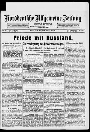 Norddeutsche allgemeine Zeitung vom 04.03.1918