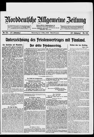 Norddeutsche allgemeine Zeitung vom 07.03.1918