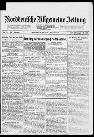 Norddeutsche allgemeine Zeitung vom 13.03.1918