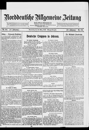 Norddeutsche allgemeine Zeitung vom 14.03.1918