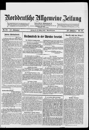 Norddeutsche allgemeine Zeitung vom 15.03.1918