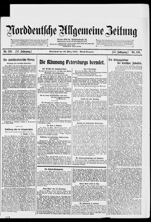 Norddeutsche allgemeine Zeitung vom 16.03.1918