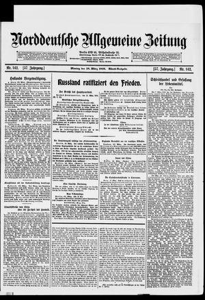 Norddeutsche allgemeine Zeitung vom 18.03.1918