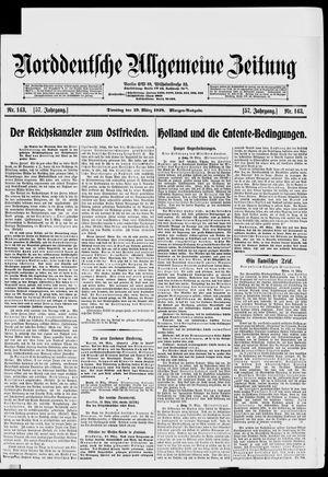 Norddeutsche allgemeine Zeitung vom 19.03.1918