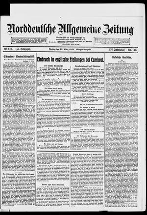 Norddeutsche allgemeine Zeitung vom 22.03.1918