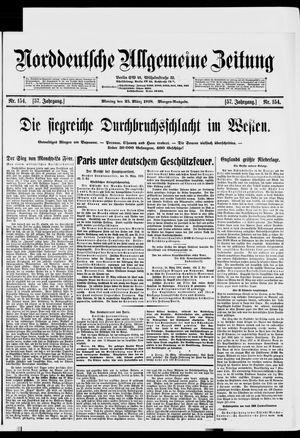 Norddeutsche allgemeine Zeitung vom 25.03.1918
