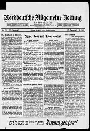 Norddeutsche allgemeine Zeitung vom 27.03.1918