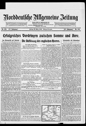 Norddeutsche allgemeine Zeitung vom 29.03.1918