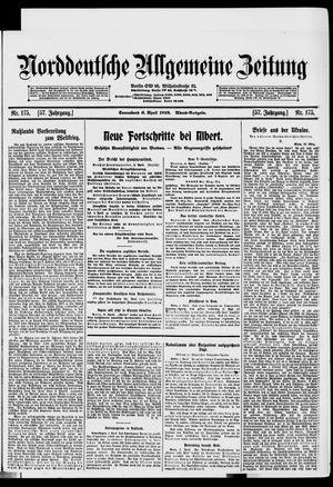 Norddeutsche allgemeine Zeitung vom 06.04.1918