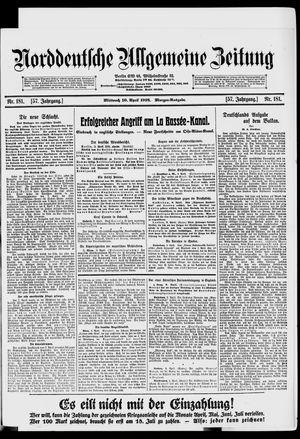Norddeutsche allgemeine Zeitung vom 10.04.1918