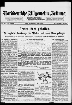 Norddeutsche allgemeine Zeitung vom 12.04.1918